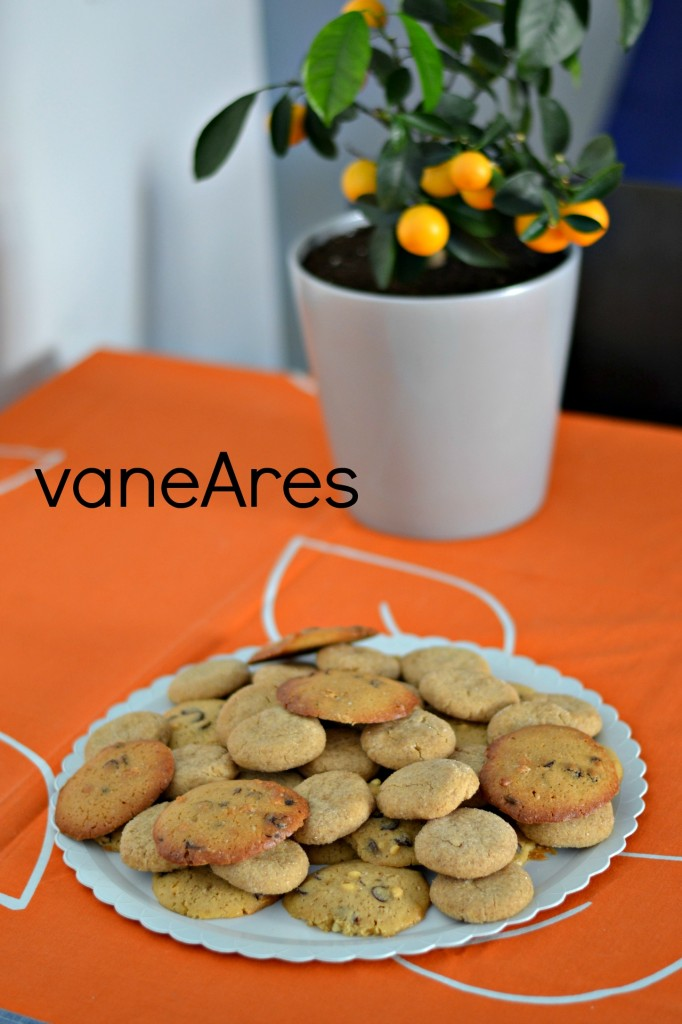 Galletas de jengibre y cookies con pepitas de chocolate